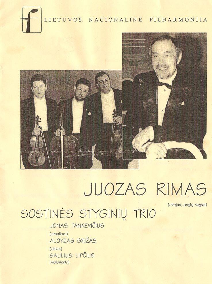 Juozas Rimas ir sostinės styginių trio koncertas