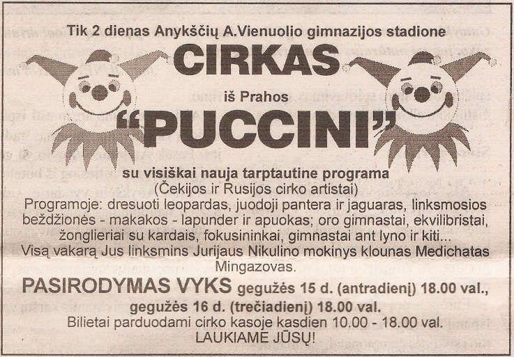 """Cirkas iš Prahos """"Puccini"""" - Antroji diena"""