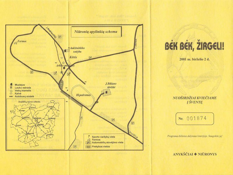 """22-oji Respublikinė tradicinės kultūros ir žirgų sporto šventė """"Bėk bėk, žirgeli!"""" (2001)"""