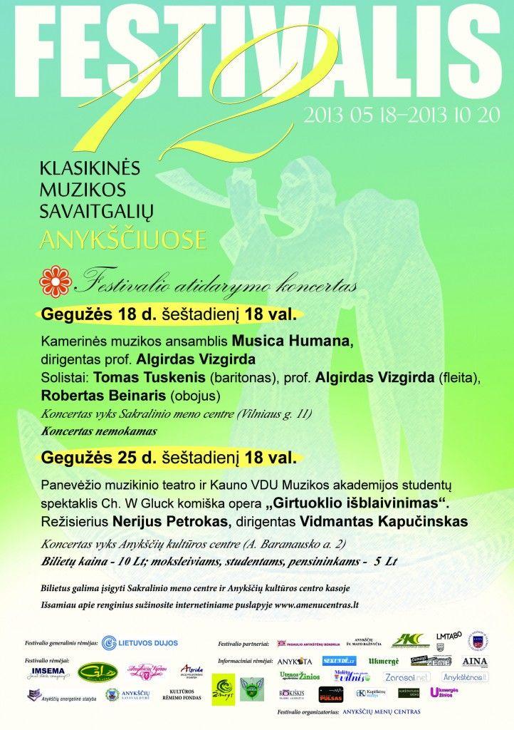 """Festivalis """"Muzikos savaitgaliai Anykščiuose"""" (2013) - Kamerinės muzikos ansamblis """"Musica humana"""""""