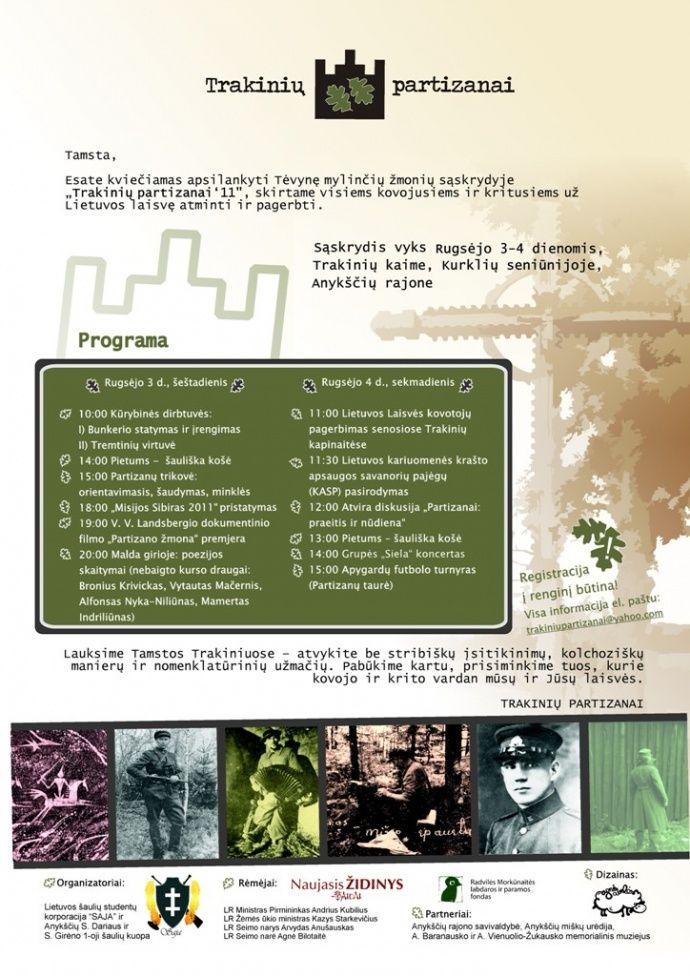 """Tėvynę mylinčių žmonių sąskrydis """"Trakinių partizanai"""" (2011) - Pirmoji diena"""