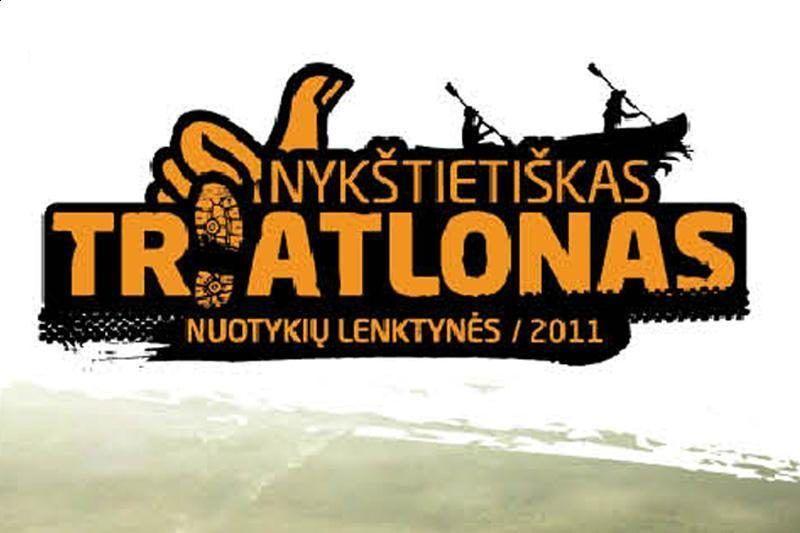 """Nuotykių lenktynės """"Nykštietiškas triatlonas"""" (2011) - Pirmoji diena"""