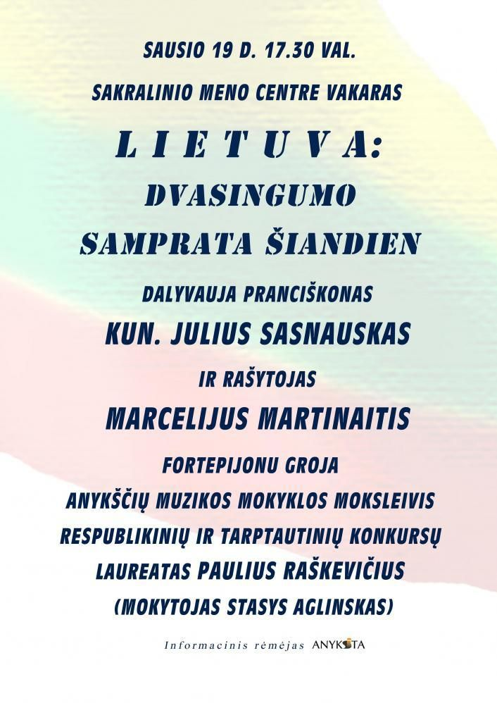 "Vakaras ""Lietuva. Dvasingumo samprata šiandien"""