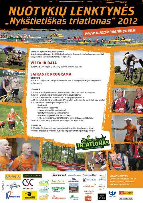 """Nuotykių lenktynės """"Nykštietiškas triatlonas"""" (2012) - Antroji diena"""
