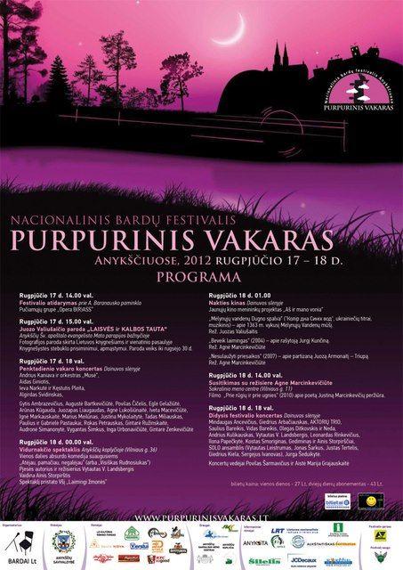 """Festivalis """"Purpurinis vakaras"""" (2012) - Penktadienio vakaro koncertas"""