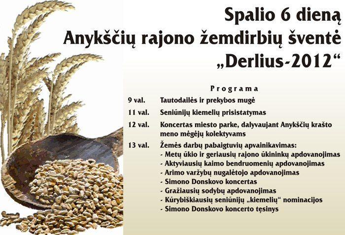 """Anykščių rajono žemdirbių derliaus šventė """"Derlius"""" (2012)"""