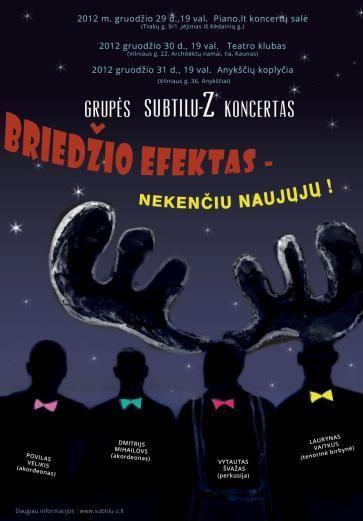 """Naujametinis vakaras su instrumentinės muzikos grupe """"Subtilu-Z"""""""