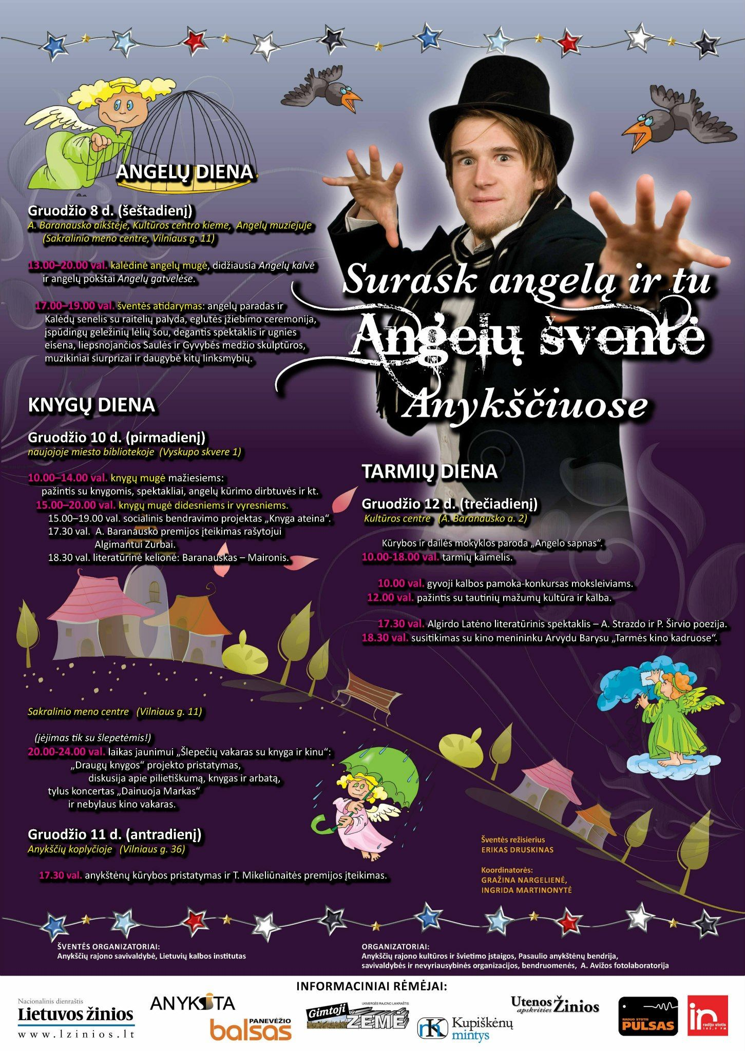 Angelų šventė Anykščiuose (2012) - T. Mikeliūnaitės premijos teikimas