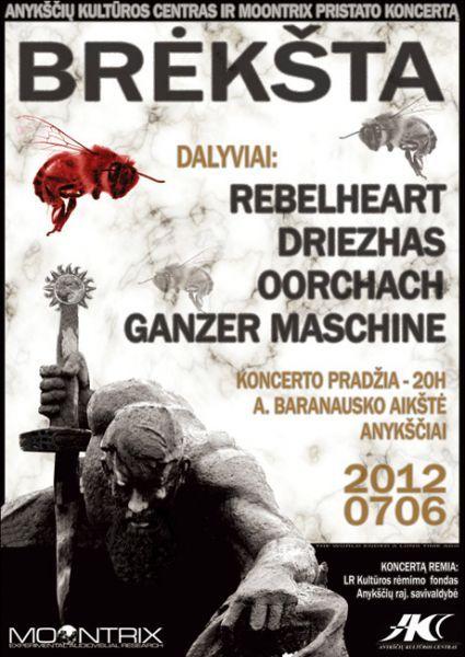 """Valstybės (Lietuvos karaliaus Mindaugo karūnavimo) diena (2012) - Alternatyviosios muzikos koncertas """"Brėkšta"""""""
