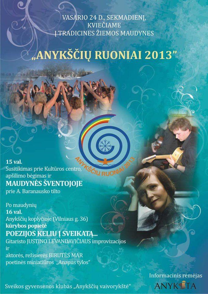 """Tradicinės žiemos maudynės """"Anykščių ruoniai"""" (2013) - Kūrybos popietė """"Poezijos keliu į sveikatą..."""""""