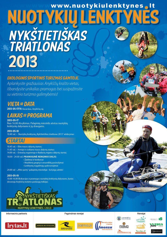"""Nuotykių lenktynės """"Nykštietiškas triatlonas"""" (2013) - Pirmoji diena"""