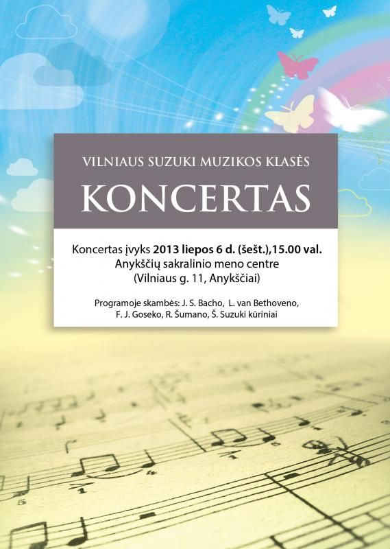 Vilniaus Suzuki muzikos klasės koncertas