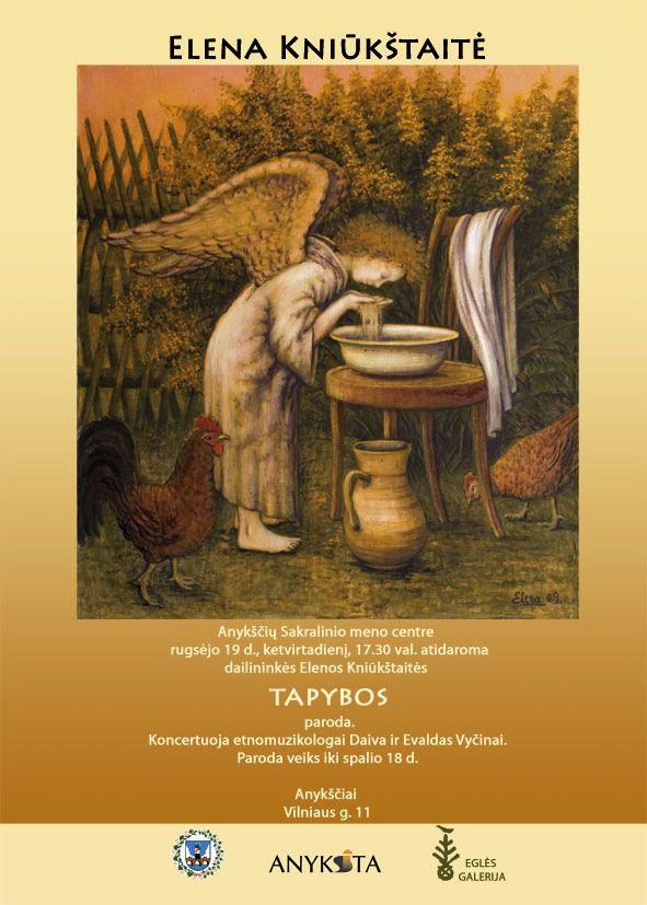 Dailininkės Elenos Kniūkštaitės tapybos darbų parodos atidarymas
