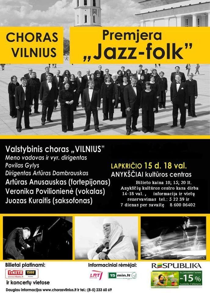 Vilniaus choro ir Veronikos Povilionienės koncertas