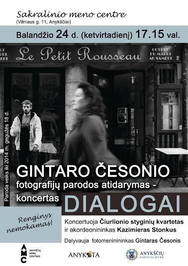 Fotografo Gintaro Česonio darbų parodos atidarymas