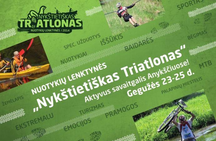 """Nuotykių lenktynės """"Nykštietiškas triatlonas"""" (2014) - Trečioji diena"""