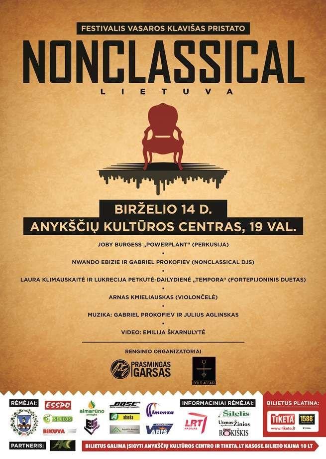 "Festivalis ""Vasaros klavišas"" pristato ""NONCLASSICAL LIETUVA"""
