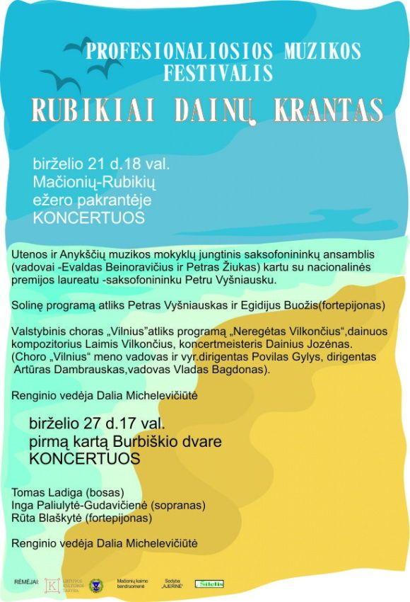 """Festivalis """"Rubikiai - dainų krantas"""""""