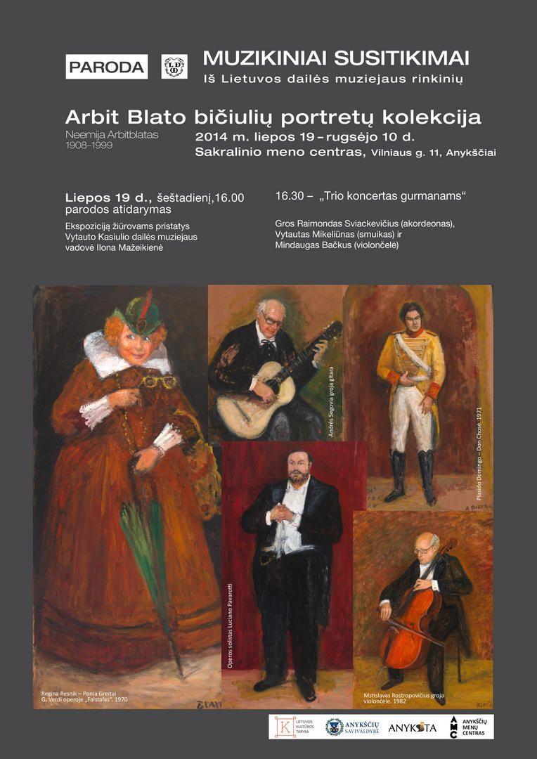 Dailininko Arbit Blato tapybos darbų parodos atidarymas (iš Lietuvos Nacionalinio muziejaus fondų)
