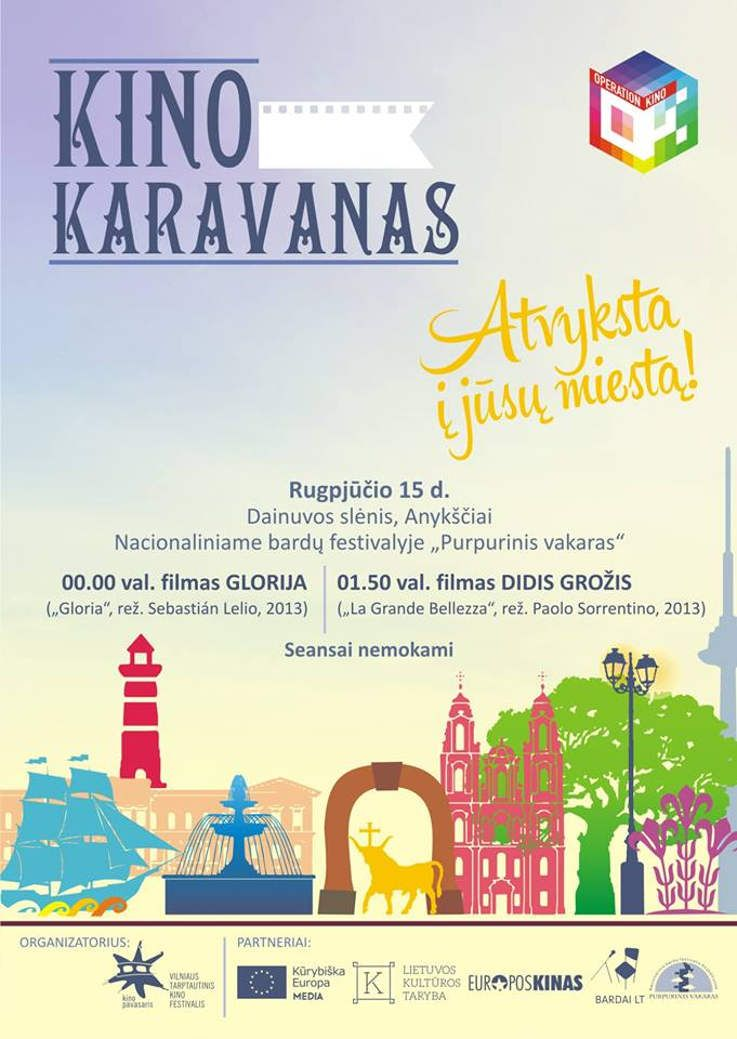 """Festivalis """"Purpurinis vakaras"""" (2014) - KINO KARAVANAS. Filmų peržiūra Dainuvos slėnyje"""