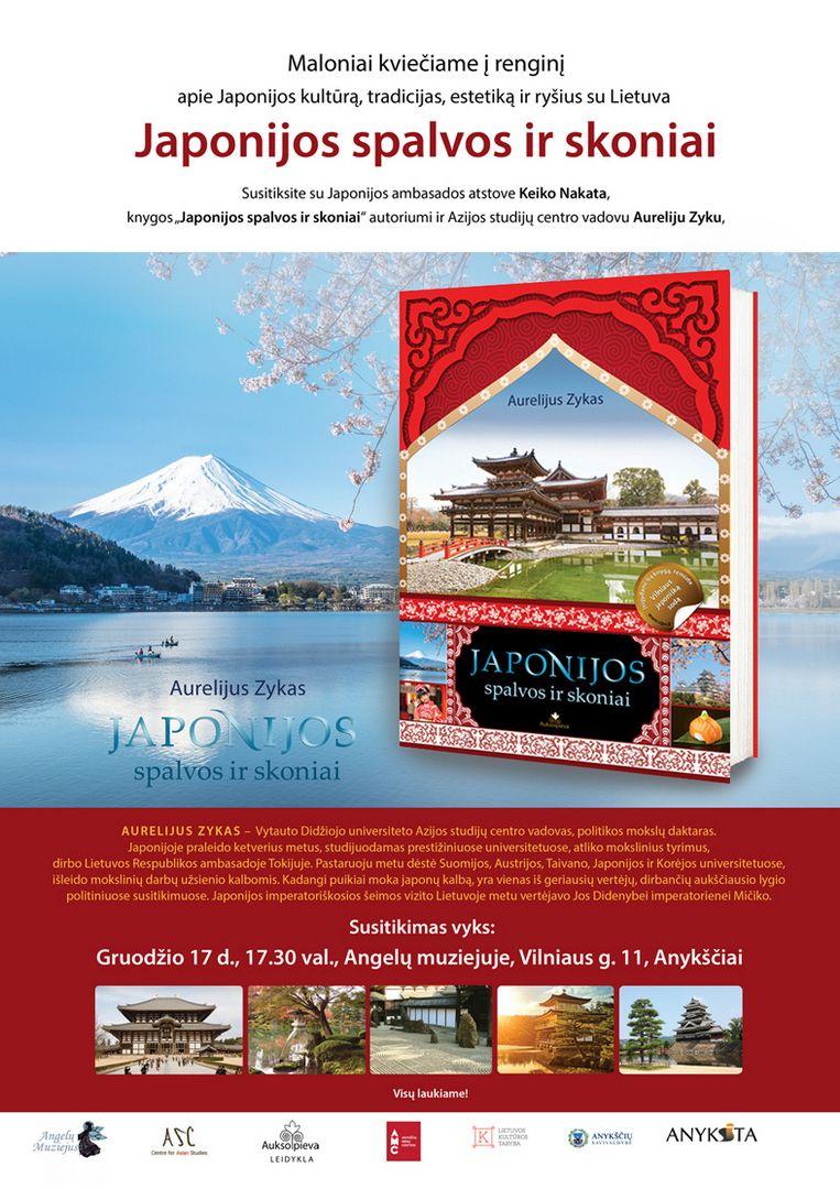 """Dr. Aurelijaus Zyko knygos """"Japonijos spalvos ir skoniai"""" pristatymas"""