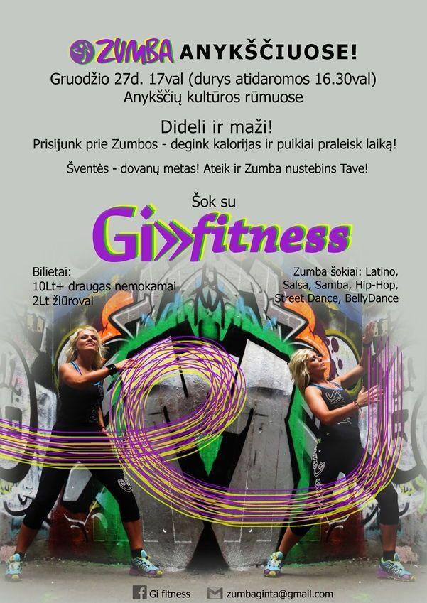 Šok su Gi-fitness (Zumbos šokiai)