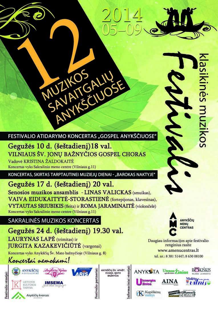 """Festivalis """"Muzikos savaitgaliai Anykščiuose"""" (2014) - Festivalio atidarymo koncertas """"Gospel Anykščiuose"""""""