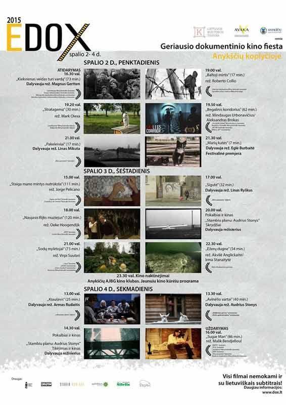 """Dokumentinių filmų festivalis """"EDOX"""" (2015) - Pokalbiai ir kinas / Stambiu planu - Audrius Stonys"""