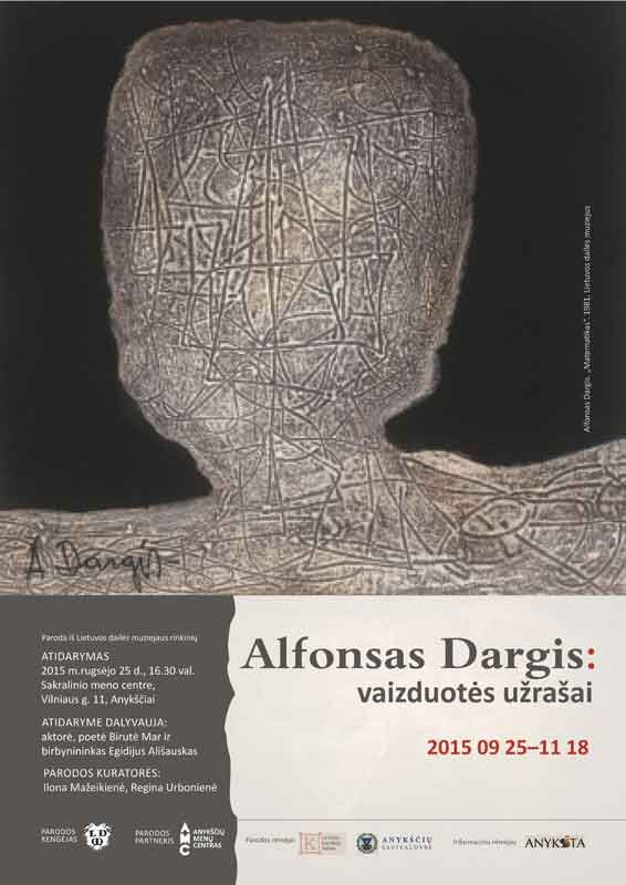 Tapytojo, grafiko Alfonso Dargio parodos atidarymas