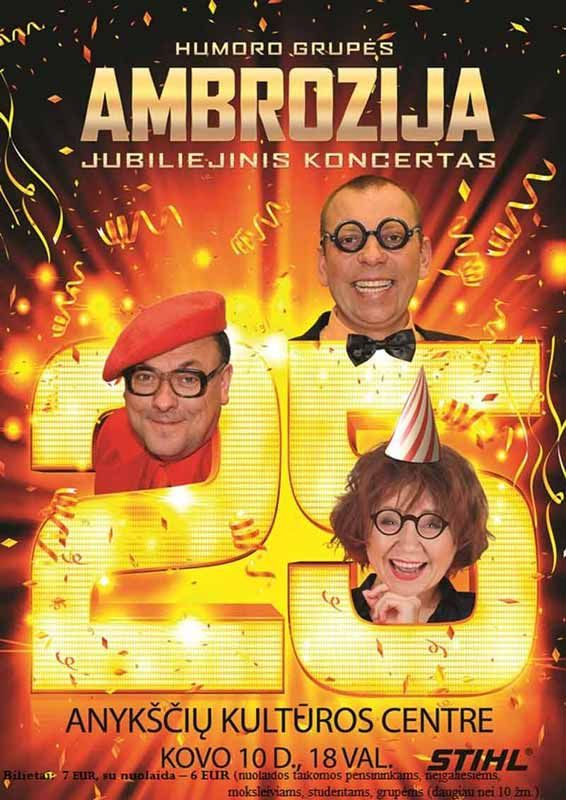 "Humoro grupės ""Ambrozija"" jubiliejinis koncertas"
