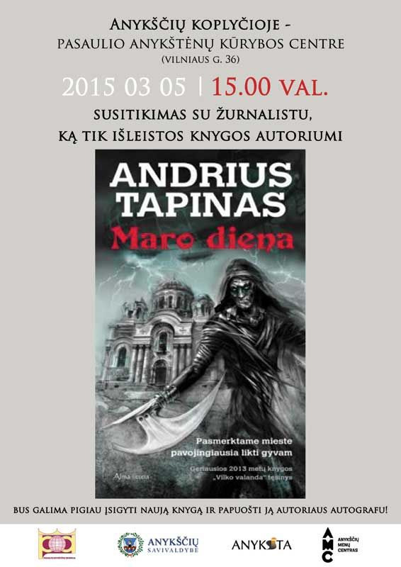 Susitikimas su žurnalistu, naujos knygos autoriumi Andriumi Tapinu