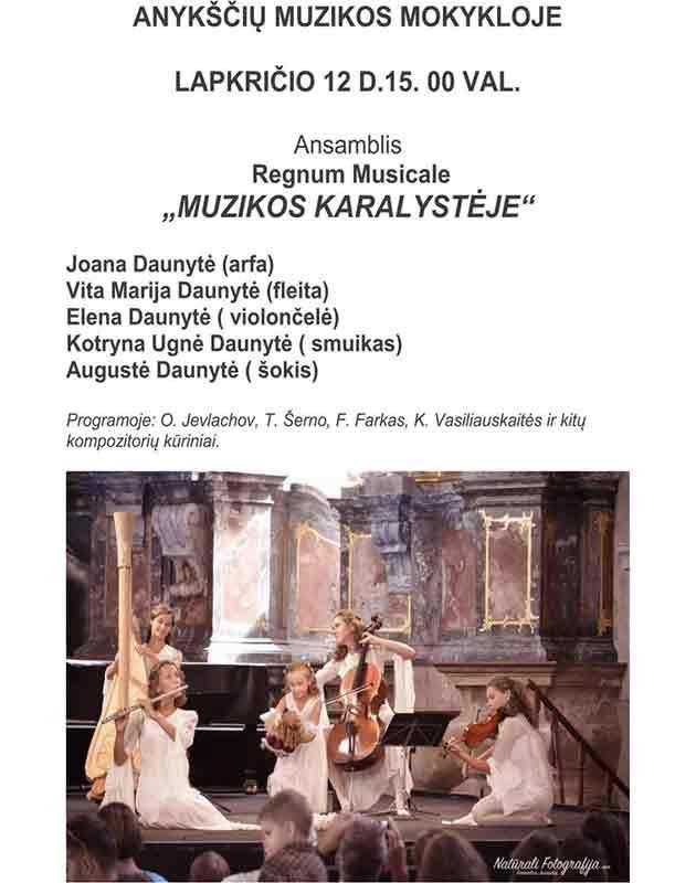 "Ansamblis Regnum Musicale ""Muzikos karalystėje"" koncertas"