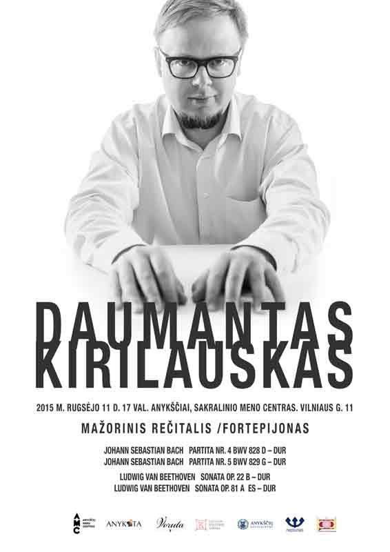 """Daumantas Kirilauskas """"Mažorinis rečitalis / fortepijonas"""""""