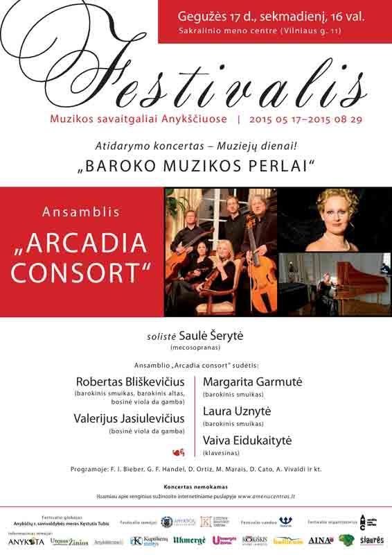 """Festivalis """"Muzikos savaitgaliai Anykščiuose"""" (2015) - Ansamblis """"Arcadia consort"""""""