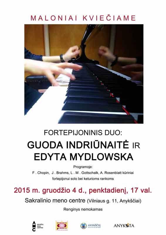 Fortepijoninis duo: Guoda Indriūnaitė ir Edyta Mydlowska