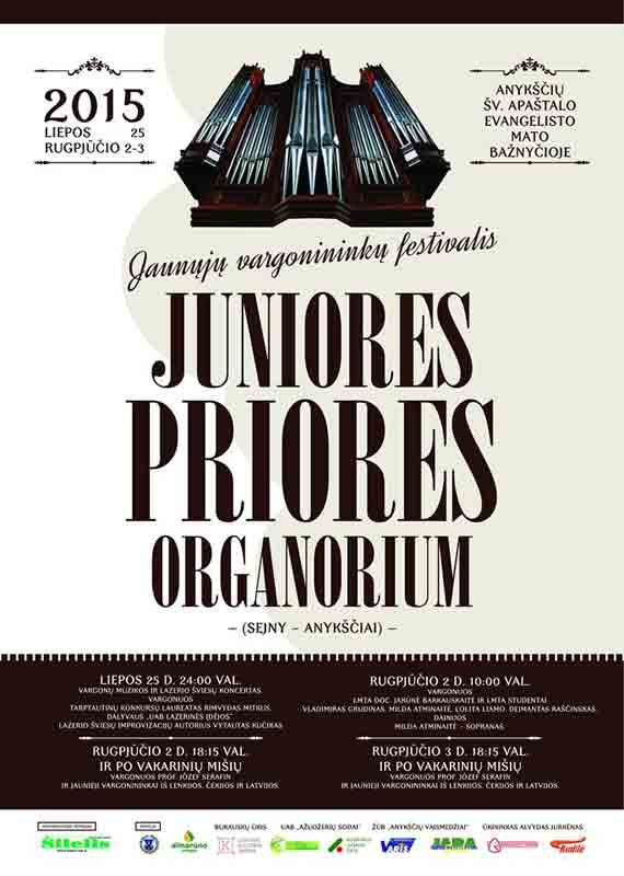 """Jaunųjų vargonininkų festivalis """"Juniores priores organorium"""" (2015) - Trečioji diena"""