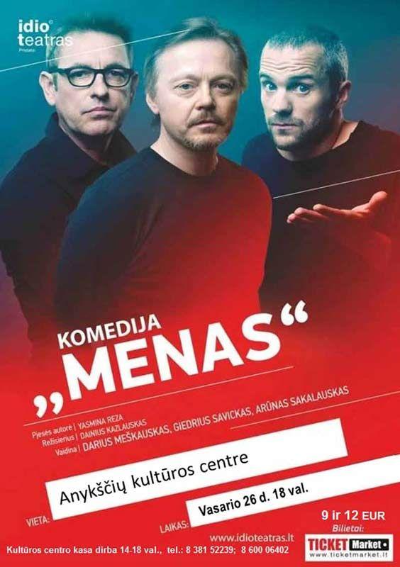 "Idioteatras pristato: komediją ""Menas"""