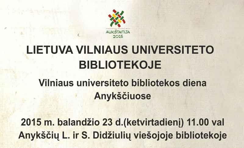 Lietuva Vilniaus universiteto bibliotekoje
