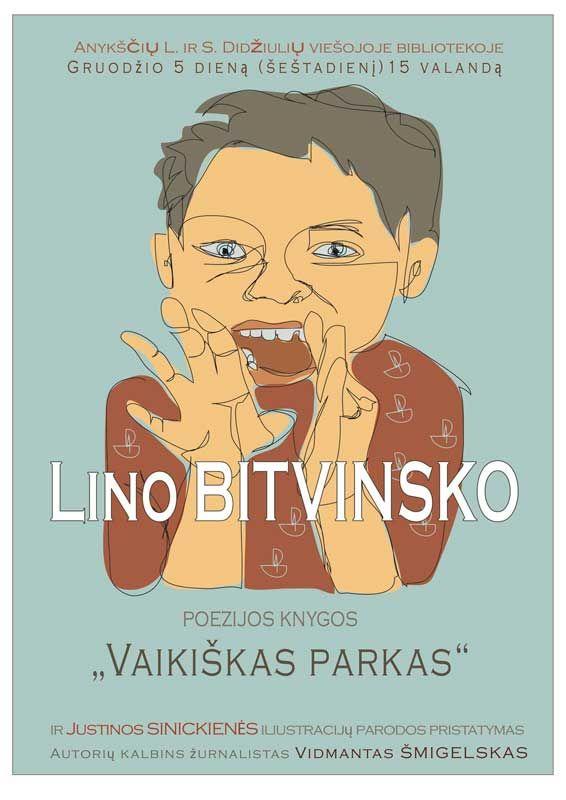 """L. Bitvinsko knygos """"Vaikiškas parkas"""" ir Justinos Sinickienės iliustracijų parodos pristatymas"""