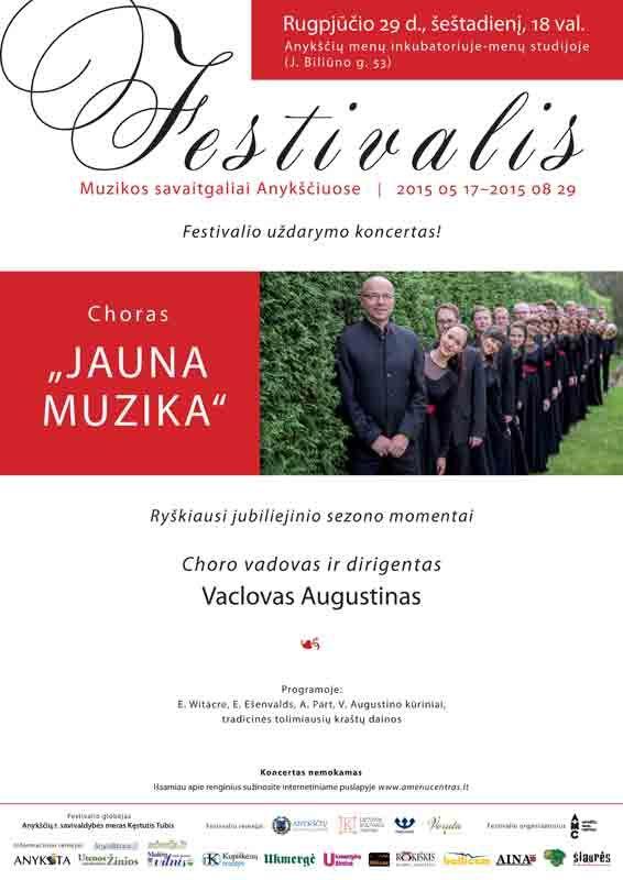 """Festivalis """"Muzikos savaitgaliai Anykščiuose"""" (2015) - Dalyvauja choras """"Jauna muzika"""""""