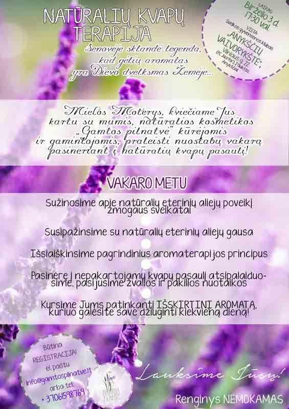 Natūralių kvapų terapija