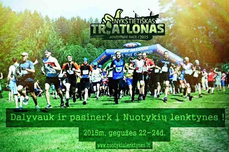 """Nuotykių lenktynės """"Nykštietiškas Triatlonas"""" (2015) - Pirmoji diena"""