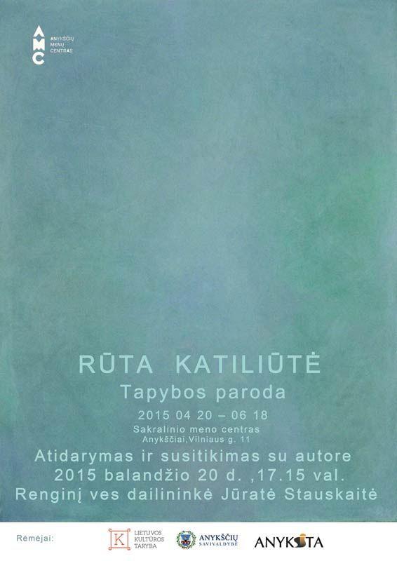 Rūtos Katiliūtės parodos atidarymas Sakralinio meno centre