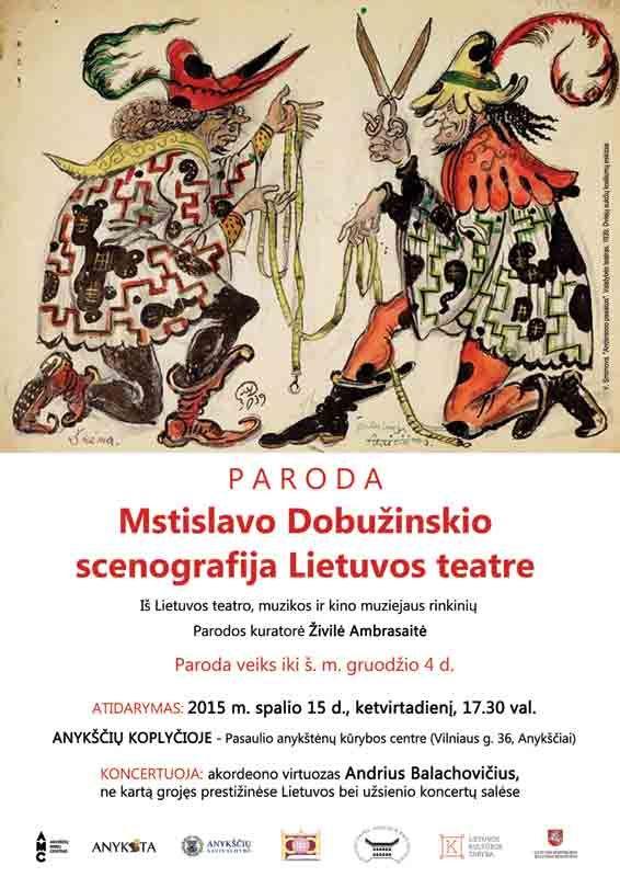 "Parodos ""Mstislavo Dobužinskio scenografija Lietuvos teatre"" atidarymas"