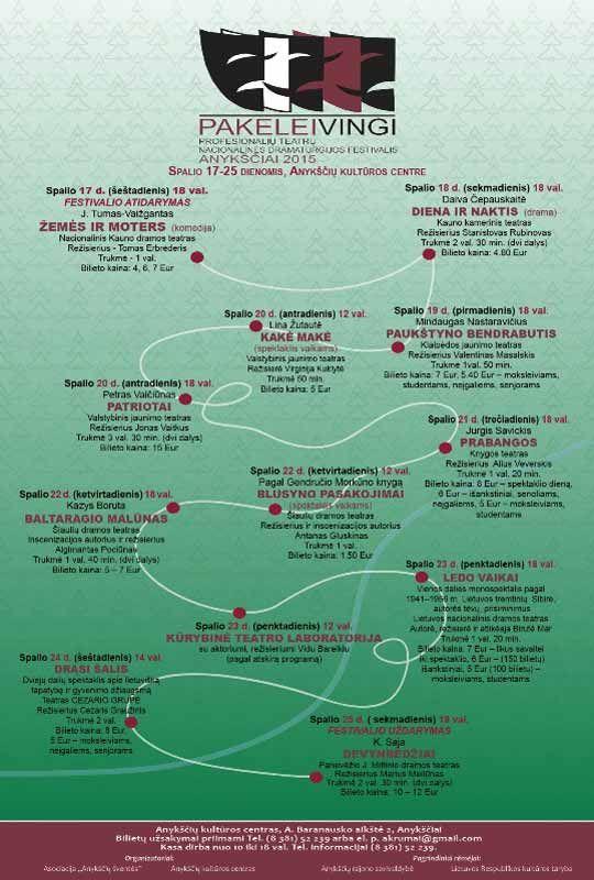 """Nacionalinės dramaturgijos festivalis """"Pakeleivingi″ (2015) - Tomas Erbrėderis """"Žemės ir moters"""""""