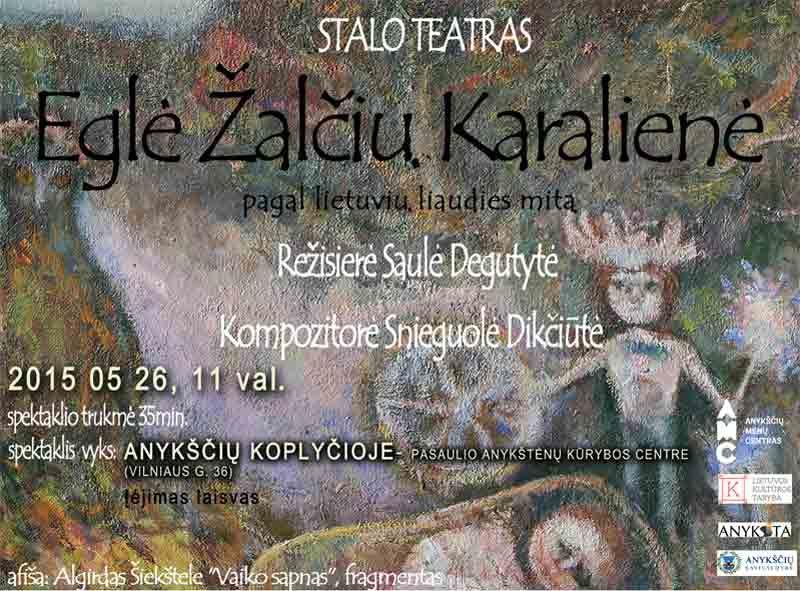 """Stalo teatro spektaklis """"Eglė Žalčių karalienė"""""""