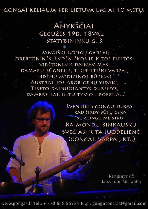 Šventinis gongų turas, kad širdy būtu gera! Su gongų meistru Raimondu Binkausku