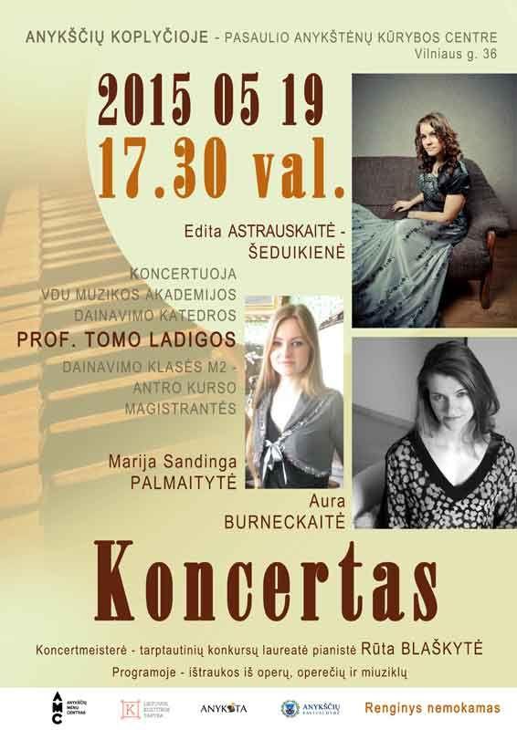 Prof. Tomo Ladigos dainavimo klasės antro kurso magistrančių koncertas