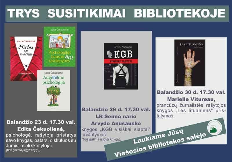 Susitikimas su Edita Čekuoliene, knygos pristatymas