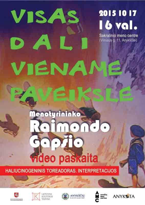 """Video paskaita apie Salvadoro Dali kūrybą """"Visas Dali viename paveiksle"""""""